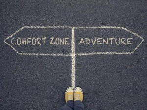 Get past your comfort zone and move onto adventure